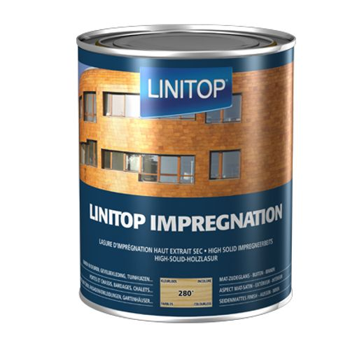 Linitop houtbeits 'Impregnation' kleurloos 280 2,5L
