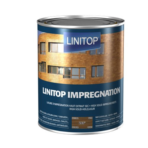 Linitop houtbeits 'Impregnation' notelaar 283 2,5L
