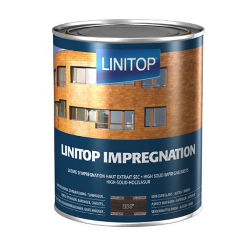 Linitop houtbeits 'Impregnation' palissander 284 2,5L