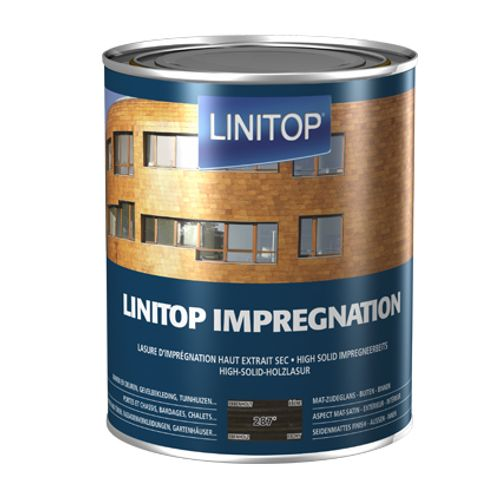 Linitop houtbeits 'Impregnation' ebbenhout 287 2,5L