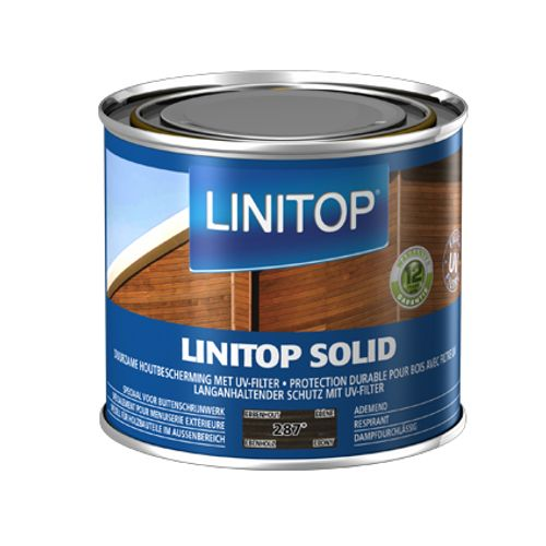 Linitop houtbeits 'Solid' ebbenhout 500ml