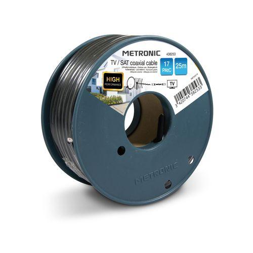 Câble télévision Metronic 'COAX SAT' noir 25 m