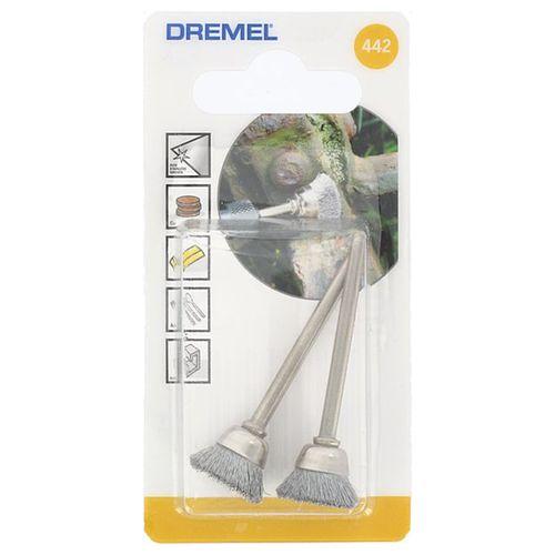 Brosse métallique Dremel 442JA 13mm - 2 pièces