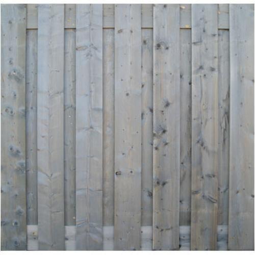 Ecran de jardin droit 'Vintage' pin gris 180 x 180 cm