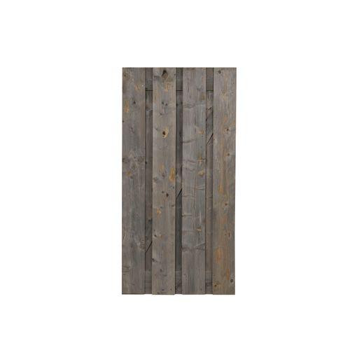 Porte de jardin 'Vintage Grey' bois 90 x 180 cm
