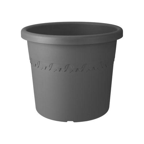 Pot sur roues Elho 'algarve cilindro' anthracite 40 cm