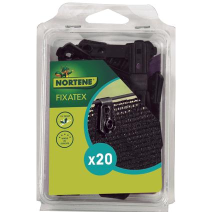 Clip de fixation Nortene 'Fixatex' noir – 20 pcs