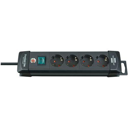 Brennenstuhl stekkerdoos premium-line 4-voudig zwart 1,8m H05VV-F 3G1,5
