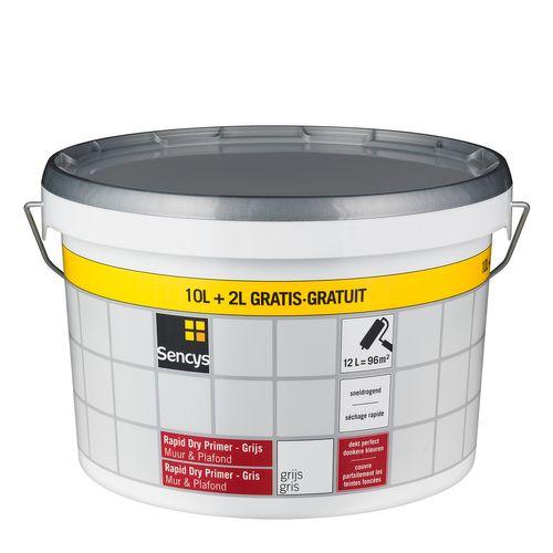 Sencys Rapid Dry primer Muur & Plafond grijs 12L