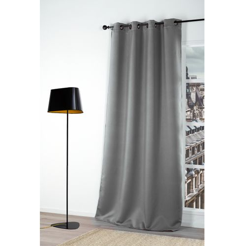 Rideau occultant clair gris 140x180cm