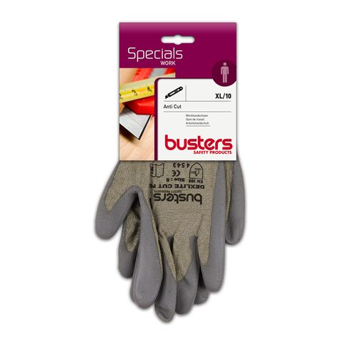 Busters handschoenen Anti Cut polyethyleen grijs M10