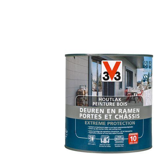 Peinture bois V33portes & châssis Extreme Protection blanc satiné 500ml