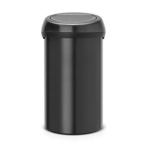 Poubelle Brabantia 'Touch Bin' matt black 60 L