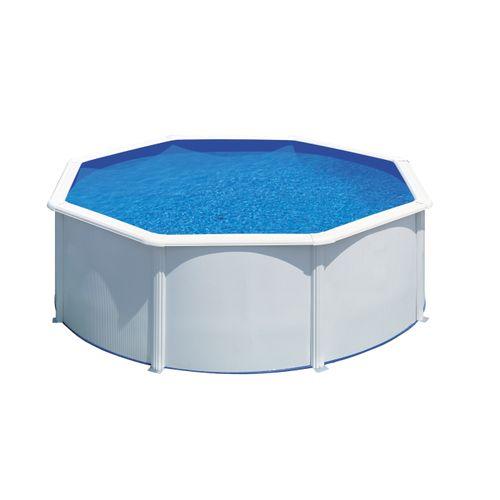 Gre opzetzwembad Fidji rond staal wit Ø320x122cm