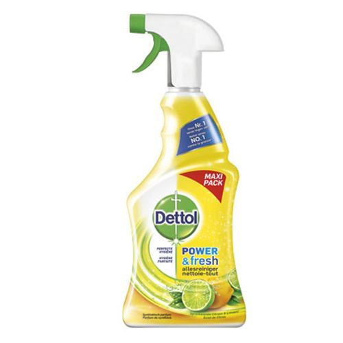 Nettoyant spray multi-usages Dettol 'Power & Fresh' parfum zeste de citron 750 ml