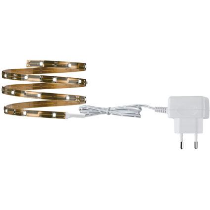 NicePrice LED strip set 1m warmwit 2,4W 230/12VDC Koper metaal