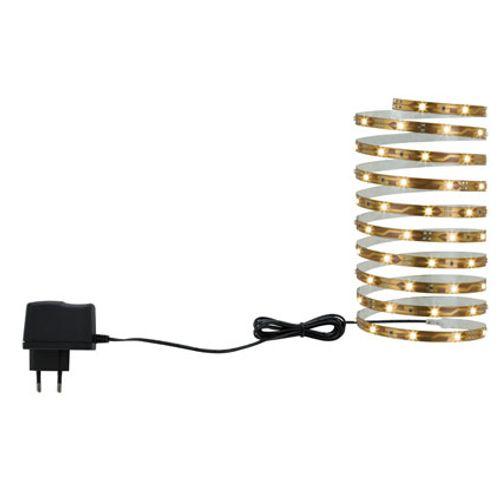 NicePrice LED strip set 3m warmwit 7,2W 230/12VDC Koper metaal