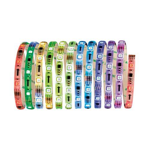 Function Digital LED strip set 3m RGB 14W 230/18V wit kunststof