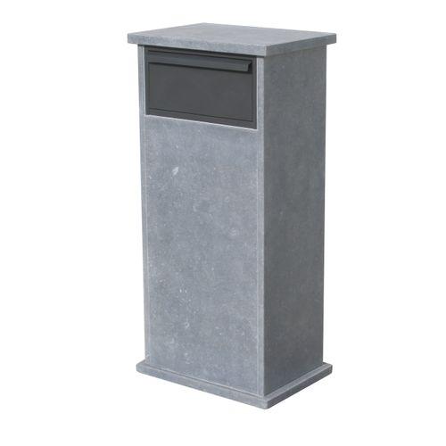 VASP brievenbus op voet 'Palma parcel' Belgische arduin