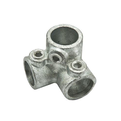 Flexfit hoekstuk gegalvaniseerd metaal diam. 40 mm