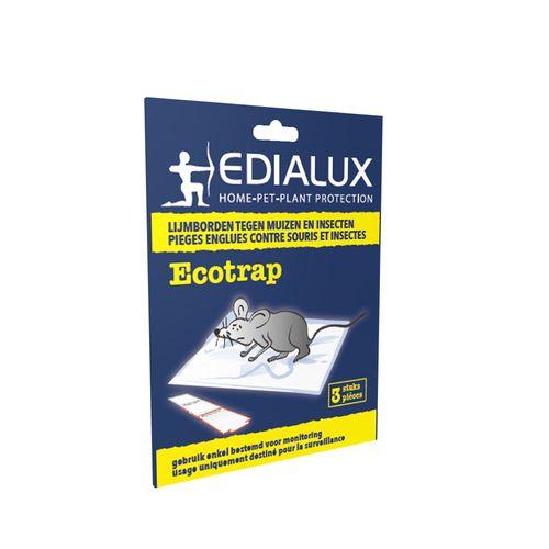 Piège à souris et insectes Edialux Ecotrap 3pcs