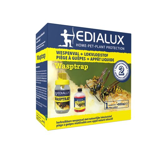 Edialux Wasptrap herbruikbare wespenval  + lokstof 500ml
