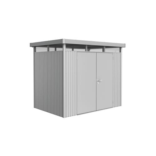 Biohort tuinhuis 'HighLine H2 dubbele deur' staal zilver metallic 4,33 m²