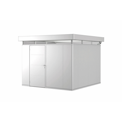 Biohort tuinhuis 'CasaNova 3x3' links zilver metallic 8,53 m²