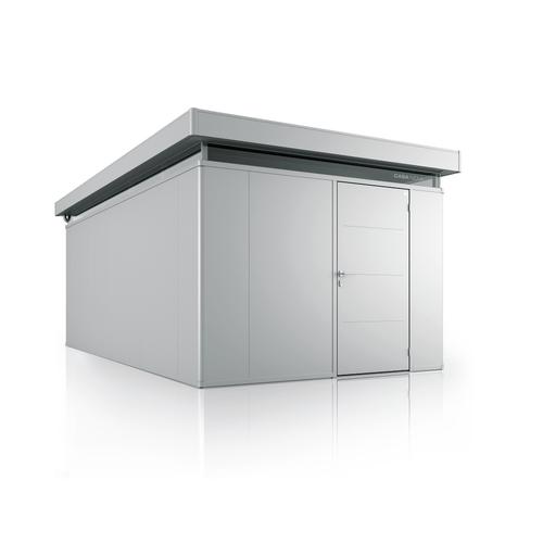 Biohort tuinhuis 'CasaNova 3x5' rechts zilver metallic 14,37 m²