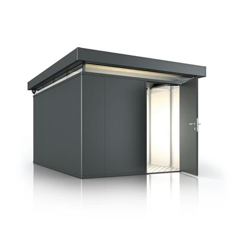 Biohort tuinhuis 'CasaNova 3x4' rechts donkergrijs metallic 11,45 m²