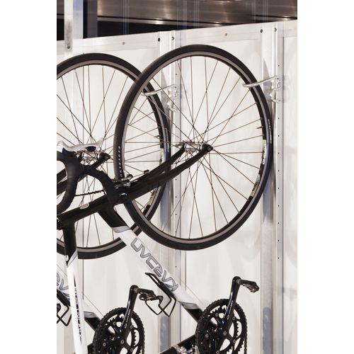 Biohort fietshouder BikeMax metaal zilverkleurig 2st