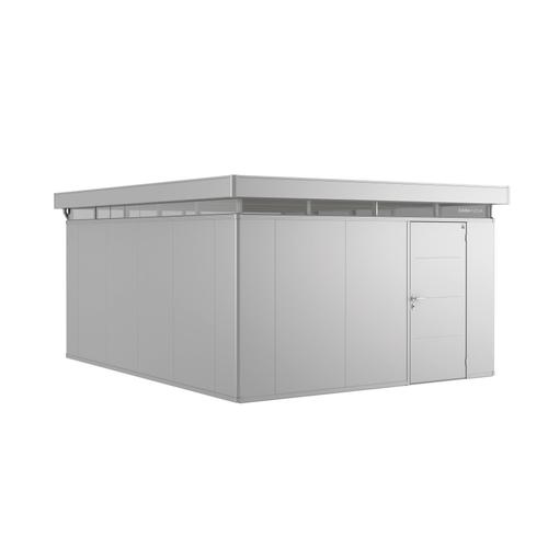 Biohort tuinhuis 'CasaNova 4x5' rechts zilver metallic 19,29 m²