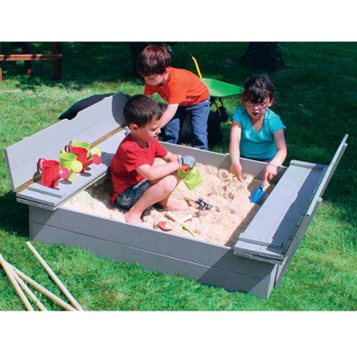 Bac à sable Soulet avec bancs 135 x 120 cm