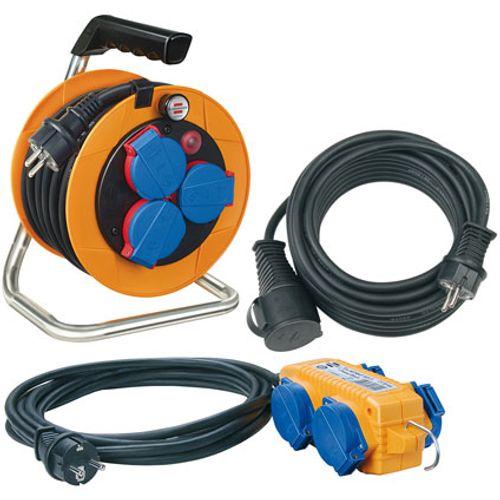 Brennenstuhl power-pack Set kabelhaspel 10m H07RN-F 3G1,5/ verlengkabel 10m H07RN-F 3G1,5/ stroomverdeler 5m H07RN-F 3G1,5 IP44