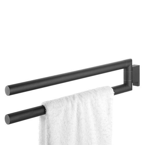 Tiger handdoekrek Bold 2-armig RVS zwart