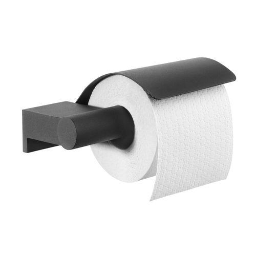 Porte-rouleau de papier toilette avec couvercle Tiger Bold noir