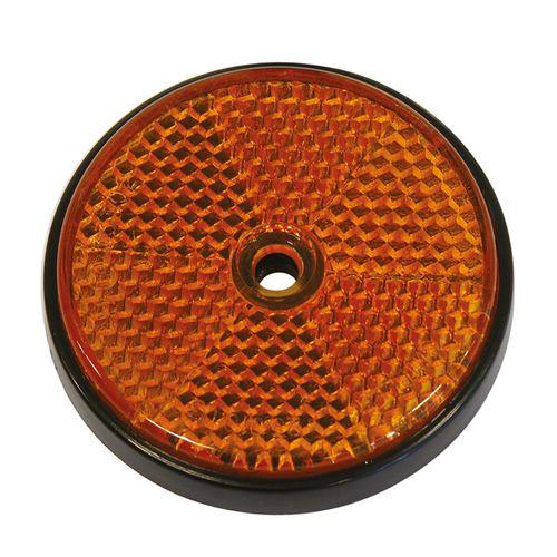 Carpoint reflectoren rond oranje Ø70mm 2 stuks
