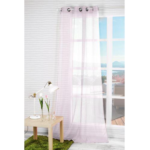 Overgordijn 'Dolly' lichtdoorlatend roze 140 x 240 cm