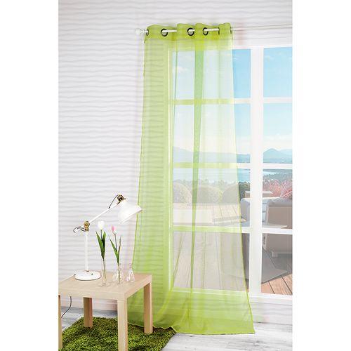 Gordijn 'Dolly' lichtdoorlatend groen 140 x 240 cm