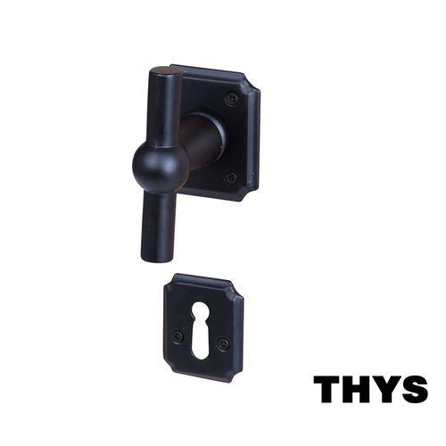 Poignée de porte avec rosace Linea Retro 110 acier noir mat 2 pcs.