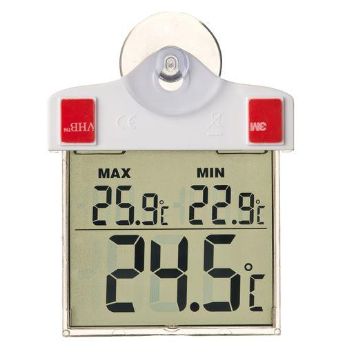 Nature raamthermometer digitaal 13x10x3cm