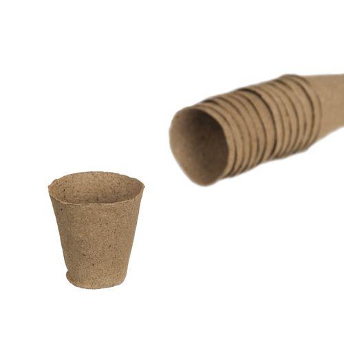 Pots en tourbe Nature rond 6 cm – 24 x 4 pcs
