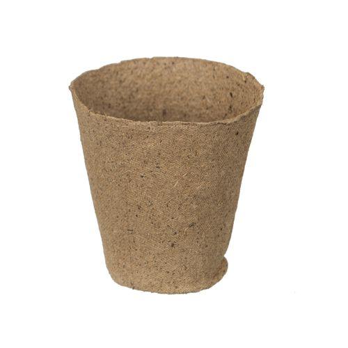 Pots en tourbe Nature rond 8,5 cm – 18 x 3 pcs