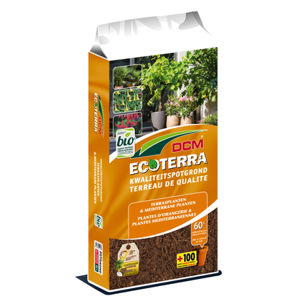 DCM potgrond terrasplanten en mediterrane planten Ecoterra 60L