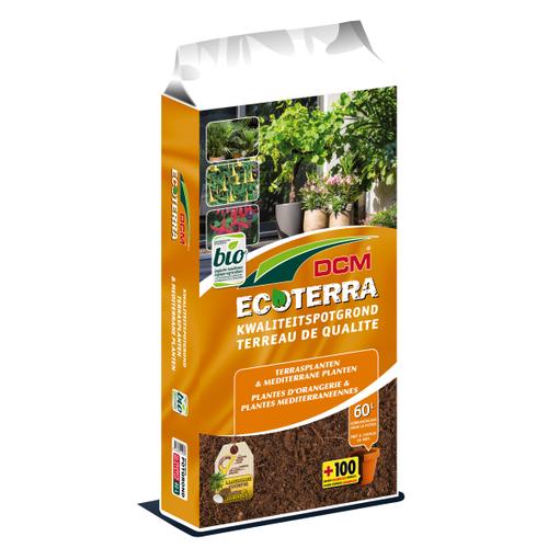 Terreau plantes orangerie & méditerranéennes DCM Ecoterra 60L