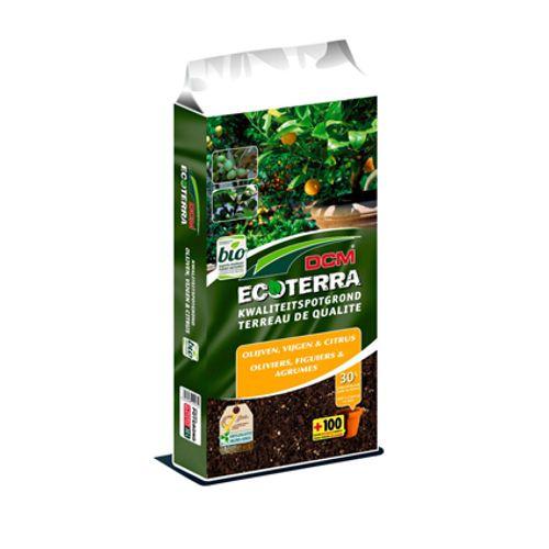 DCM Ecoterra potgrond 'Olijf-, Vijgen- & Citrusbomen' 30 L
