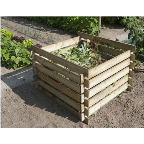Silo à compost Nature bois 650 L