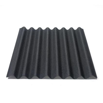 Plaque Onduline 'Easyline' noir 76 x 100 cm