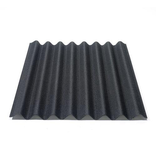 Onduline plaat 'Easyline' zwart 76 x 100 cm