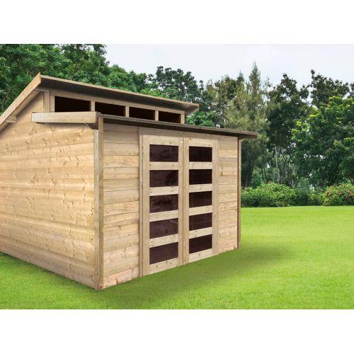 Solid tuinhuis Milano hout 8,92m² 298x298cm